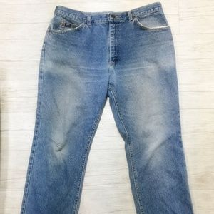 Lee Mens Blue Jeans 36x30 Straight Leg